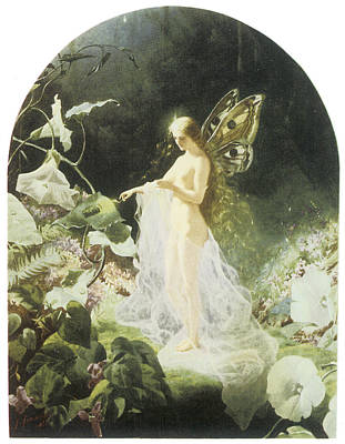 Morning Glories Painting - Titania by John Simmons