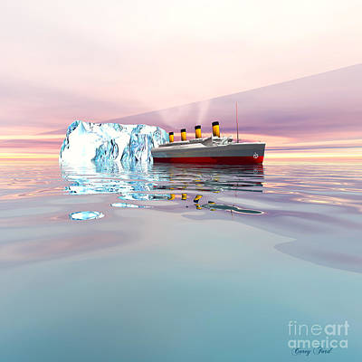 Catastrophe Painting - Titanic 2 by Corey Ford