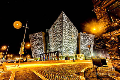 Photograph - Titanic Building At Night by Jim Orr