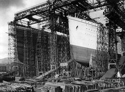 Titanic: Construction, C1910 Art Print by Granger