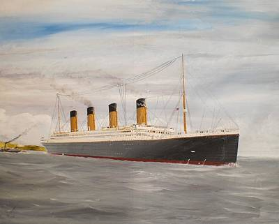Southampton Painting - Titanic Departing Queenstown by James McGuinness