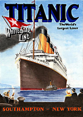 Drawing - Titanic For My Wife by Lyle Brown