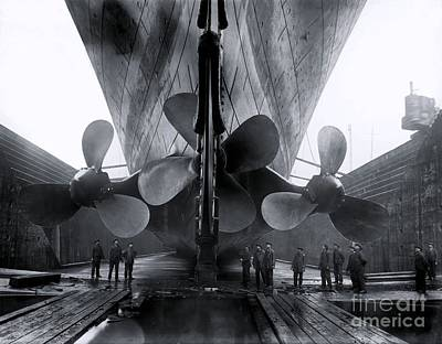 Titanic In The Drydock. Art Print