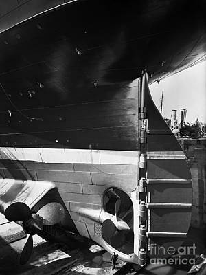 Titanic Photograph - Titanic In The Drydock. by The Titanic Project