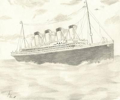 Titanic Art Print by Josh Bennett