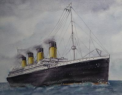 Painting - Titanic by Kelly Mills