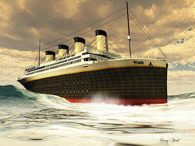 Catastrophe Painting - Titanic Oceanliner by Corey Ford
