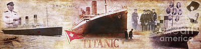 Titanic Photograph - Titanic Panoramic by Jon Neidert