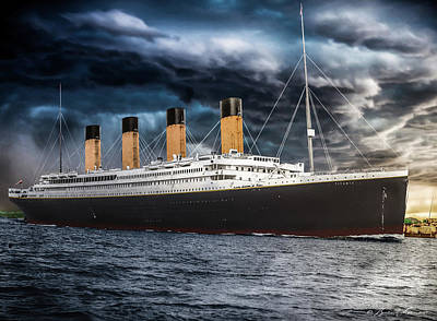 Titanic Photo Restoration Art Print by Brent Shavnore