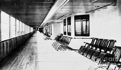 Encbr Photograph - Titanic: Promenade Deck by Granger