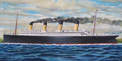 Painting - Titanic by RB McGrath