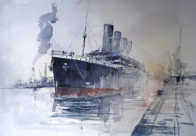 Movies Star Paintings - Titanic by Tony Belobrajdic
