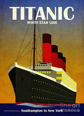 Painting - Titanic White Star Line 1912 by Ian Gledhill