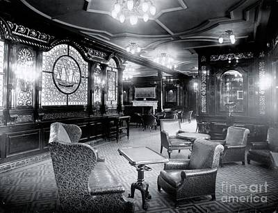 First-class Photograph - Titanic's First Class Smoking Room by The Titanic Project