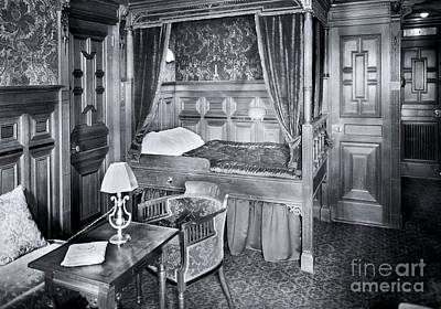 First-class Photograph - Titanic's First Class Stateroom B59 by The Titanic Project