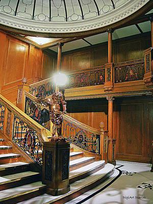 Staircase Digital Art - Titanics Grandeur by DigiArt Diaries by Vicky B Fuller