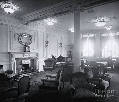 Writing Room Photograph - Titanic's Reading And Writing Room by The Titanic Project