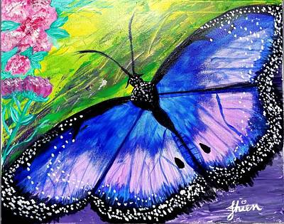 Painting - Titanium Butterfly by Tornado Thien