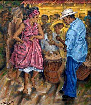 Bomba Painting - Tite Y Norma by Samuel Lind