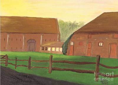 Painting - Tithe Barn Old Basing Hampshire by Karen Jane Jones