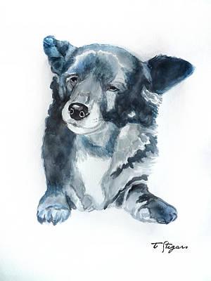 Wall Art - Painting - Titi A Little Stray Dog by Tarja Stegars