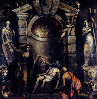 Pieta Digital Art - Titian Pieta by Titian