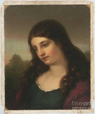 Title A Dark Haired Woman Art Print