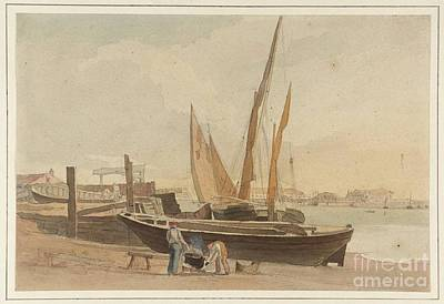 Quayside Painting - Title A Quayside by MotionAge Designs