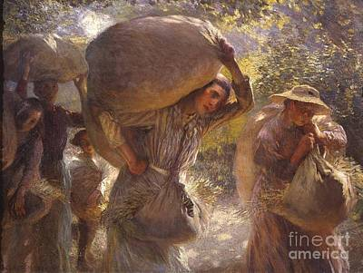 Gleaners Painting - Title Gleaners Coming Home by MotionAge Designs