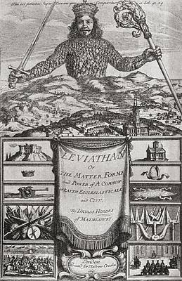 Title Page To Leviathan Or The Matter Art Print