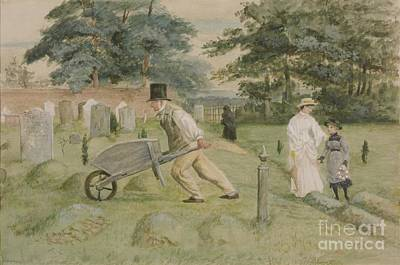 Title Scene In A Churchyard Art Print