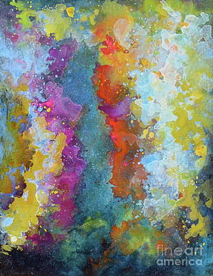 Painting - Title. Symphonic Nebula. Abstract Painting. by Robert Birkenes