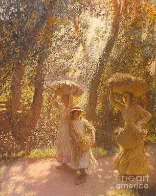 The Gleaners Painting - Title The Gleaners Returning by MotionAge Designs