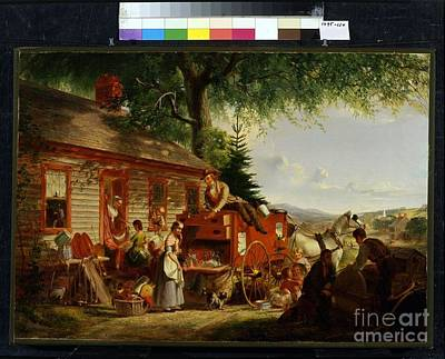 Title The Yankee Peddler Art Print