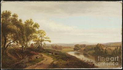 Scotland Painting - Title Valley Of The Bedford by MotionAge Designs