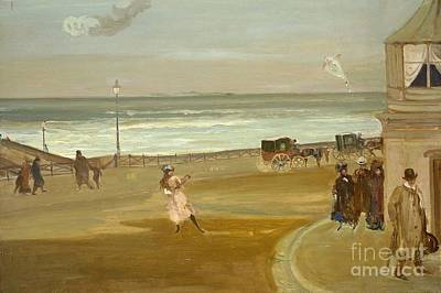 Windy Day Painting - Title Windy Day At Brighton by MotionAge Designs