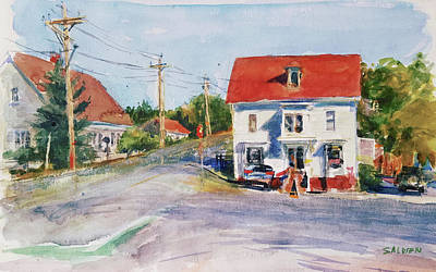 Painting - Salty Market, North Truro by Peter Salwen
