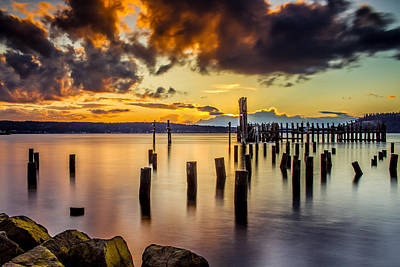 Titlow Beach Sunset Art Print