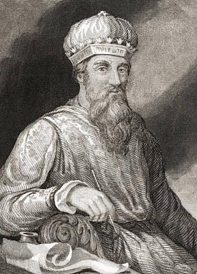 Flavius Drawing - Titus Flavius Josephus, 37 by Vintage Design Pics
