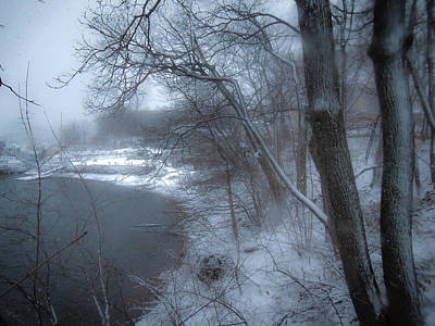 Photograph - Titus Mill Ice Pond by Glenn Feron