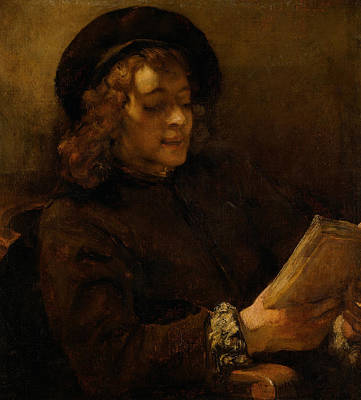 Painting - Titus Van Rijn, The Artist's Son, Reading by Rembrandt