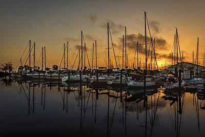 Photograph - Titusville Marina by Norman Peay