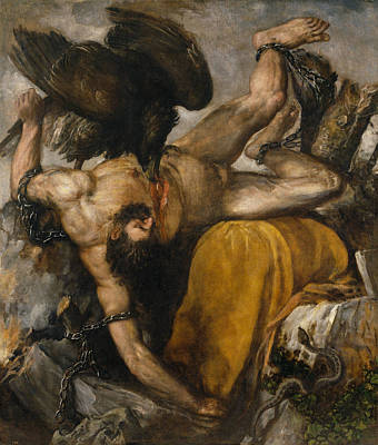 Undressed Painting - Tityos by Titian