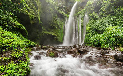 Photograph - Tiu Kelep, Lombok Waterfall by Pradeep Raja Prints