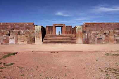 Photograph - Kalasasaya Temple, Tiwanaku, Bolivia by Aidan Moran