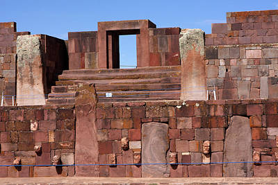 Photograph -  Tiwanaku, La Paz, Bolivia by Aidan Moran