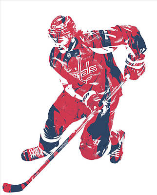 Mixed Media - Tj Oshie Washington Capitals Pixel Art 10 by Joe Hamilton