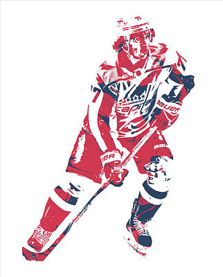 Mixed Media - Tj Oshie Washington Capitals Pixel Art 11 by Joe Hamilton