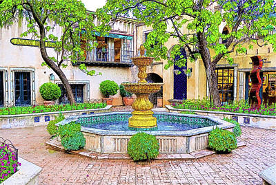 Tlaquepaque Arts And Crafts Village 1 Art Print by Kenneth Roberts
