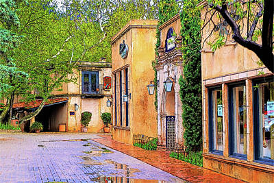 Tlaquepaque Arts And Crafts Village 5 Art Print by Kenneth Roberts